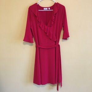 Red ruffle NY&Co dress